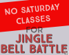 No Classes Saturday 12/1